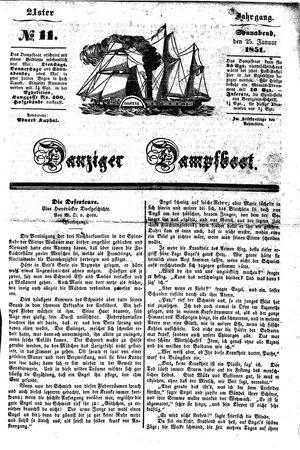 Danziger Dampfboot für Geist, Humor, Satire, Poesie, Welt- und Volksleben, Korrespondenz, Kunst, Literatur und Theater vom 25.01.1851