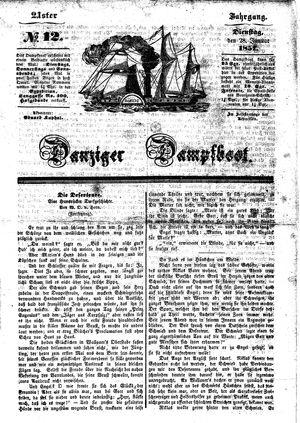 Danziger Dampfboot für Geist, Humor, Satire, Poesie, Welt- und Volksleben, Korrespondenz, Kunst, Literatur und Theater vom 28.01.1851