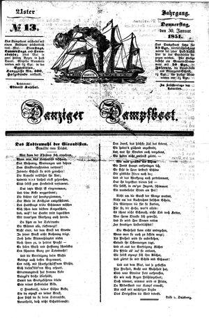 Danziger Dampfboot für Geist, Humor, Satire, Poesie, Welt- und Volksleben, Korrespondenz, Kunst, Literatur und Theater vom 30.01.1851
