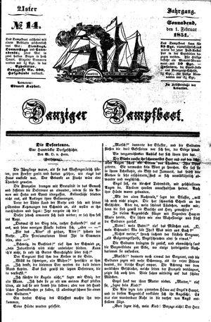 Danziger Dampfboot für Geist, Humor, Satire, Poesie, Welt- und Volksleben, Korrespondenz, Kunst, Literatur und Theater vom 01.02.1851