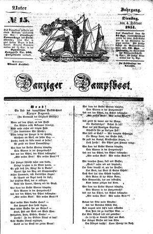 Danziger Dampfboot für Geist, Humor, Satire, Poesie, Welt- und Volksleben, Korrespondenz, Kunst, Literatur und Theater vom 04.02.1851