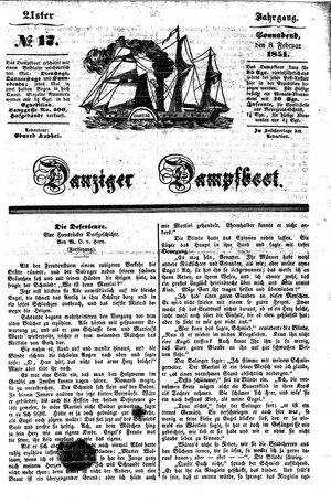 Danziger Dampfboot für Geist, Humor, Satire, Poesie, Welt- und Volksleben, Korrespondenz, Kunst, Literatur und Theater vom 08.02.1851