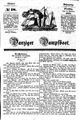 Danziger Dampfboot für Geist, Humor, Satire, Poesie, Welt- und Volksleben, Korrespondenz, Kunst, Literatur und Theater vom 11.02.1851