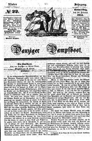 Danziger Dampfboot für Geist, Humor, Satire, Poesie, Welt- und Volksleben, Korrespondenz, Kunst, Literatur und Theater vom 20.02.1851