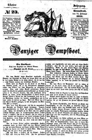 Danziger Dampfboot für Geist, Humor, Satire, Poesie, Welt- und Volksleben, Korrespondenz, Kunst, Literatur und Theater vom 22.02.1851