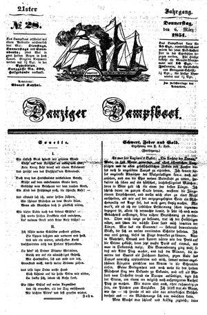 Danziger Dampfboot für Geist, Humor, Satire, Poesie, Welt- und Volksleben, Korrespondenz, Kunst, Literatur und Theater vom 06.03.1851
