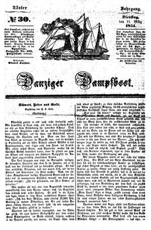 Danziger Dampfboot für Geist, Humor, Satire, Poesie, Welt- und Volksleben, Korrespondenz, Kunst, Literatur und Theater vom 11.03.1851