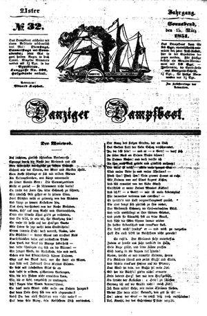 Danziger Dampfboot für Geist, Humor, Satire, Poesie, Welt- und Volksleben, Korrespondenz, Kunst, Literatur und Theater vom 15.03.1851