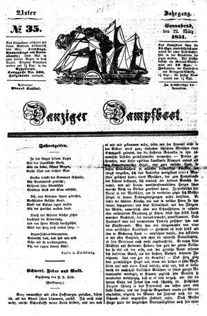 Danziger Dampfboot für Geist, Humor, Satire, Poesie, Welt- und Volksleben, Korrespondenz, Kunst, Literatur und Theater on Mar 22, 1851