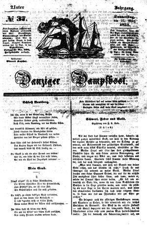 Danziger Dampfboot für Geist, Humor, Satire, Poesie, Welt- und Volksleben, Korrespondenz, Kunst, Literatur und Theater vom 27.03.1851