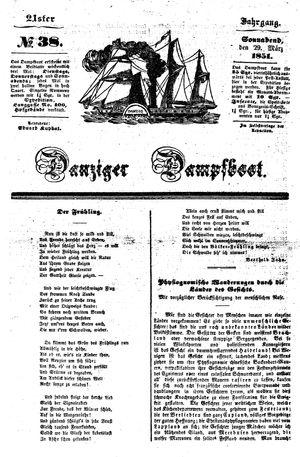 Danziger Dampfboot für Geist, Humor, Satire, Poesie, Welt- und Volksleben, Korrespondenz, Kunst, Literatur und Theater vom 29.03.1851
