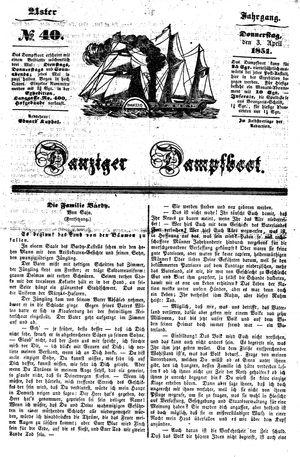 Danziger Dampfboot für Geist, Humor, Satire, Poesie, Welt- und Volksleben, Korrespondenz, Kunst, Literatur und Theater vom 03.04.1851