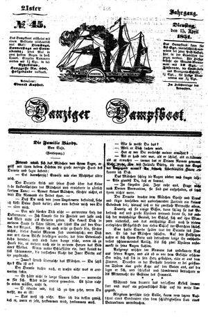 Danziger Dampfboot für Geist, Humor, Satire, Poesie, Welt- und Volksleben, Korrespondenz, Kunst, Literatur und Theater vom 15.04.1851