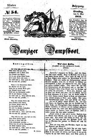 Danziger Dampfboot für Geist, Humor, Satire, Poesie, Welt- und Volksleben, Korrespondenz, Kunst, Literatur und Theater vom 06.05.1851