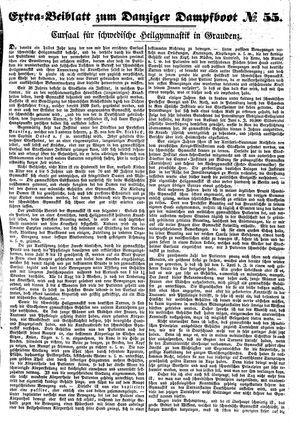 Danziger Dampfboot für Geist, Humor, Satire, Poesie, Welt- und Volksleben, Korrespondenz, Kunst, Literatur und Theater vom 08.05.1851
