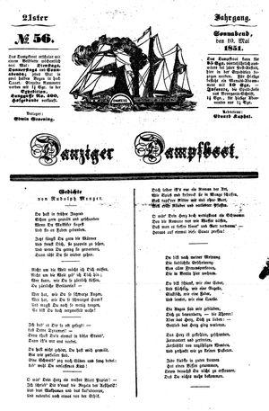 Danziger Dampfboot für Geist, Humor, Satire, Poesie, Welt- und Volksleben, Korrespondenz, Kunst, Literatur und Theater vom 10.05.1851