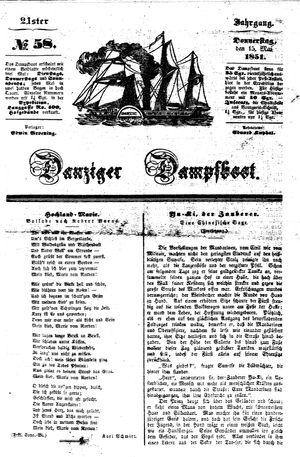 Danziger Dampfboot für Geist, Humor, Satire, Poesie, Welt- und Volksleben, Korrespondenz, Kunst, Literatur und Theater vom 15.05.1851