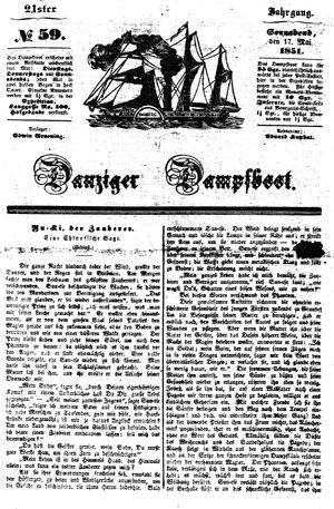 Danziger Dampfboot für Geist, Humor, Satire, Poesie, Welt- und Volksleben, Korrespondenz, Kunst, Literatur und Theater vom 17.05.1851