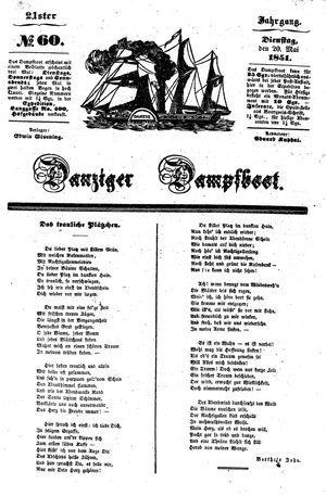 Danziger Dampfboot für Geist, Humor, Satire, Poesie, Welt- und Volksleben, Korrespondenz, Kunst, Literatur und Theater vom 20.05.1851