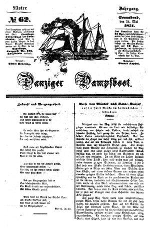 Danziger Dampfboot für Geist, Humor, Satire, Poesie, Welt- und Volksleben, Korrespondenz, Kunst, Literatur und Theater vom 24.05.1851