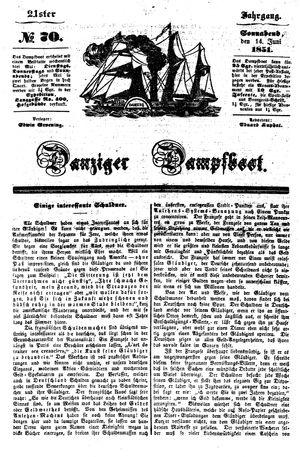 Danziger Dampfboot für Geist, Humor, Satire, Poesie, Welt- und Volksleben, Korrespondenz, Kunst, Literatur und Theater vom 14.06.1851