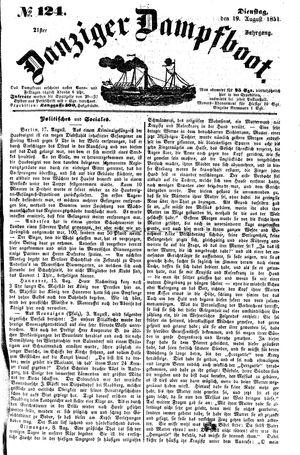 Danziger Dampfboot für Geist, Humor, Satire, Poesie, Welt- und Volksleben, Korrespondenz, Kunst, Literatur und Theater vom 19.08.1851
