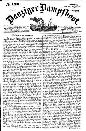 Danziger Dampfboot für Geist, Humor, Satire, Poesie, Welt- und Volksleben, Korrespondenz, Kunst, Literatur und Theater vom 26.08.1851