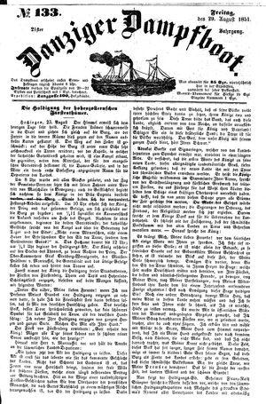 Danziger Dampfboot für Geist, Humor, Satire, Poesie, Welt- und Volksleben, Korrespondenz, Kunst, Literatur und Theater vom 29.08.1851