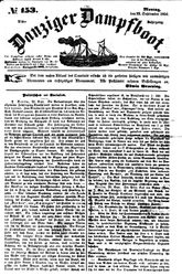 Danziger Dampfboot für Geist, Humor, Satire, Poesie, Welt- und Volksleben, Korrespondenz, Kunst, Literatur und Theater (22.09.1851)