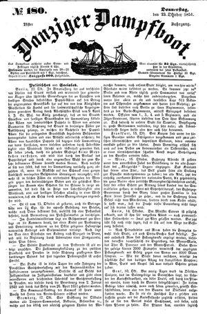 Danziger Dampfboot für Geist, Humor, Satire, Poesie, Welt- und Volksleben, Korrespondenz, Kunst, Literatur und Theater vom 23.10.1851