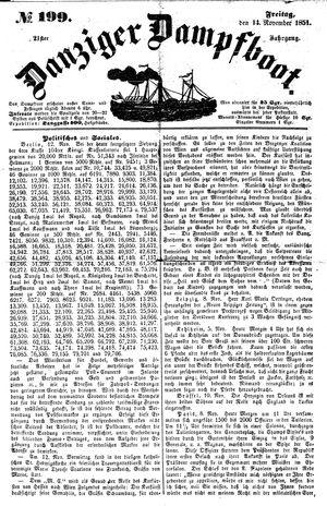 Danziger Dampfboot für Geist, Humor, Satire, Poesie, Welt- und Volksleben, Korrespondenz, Kunst, Literatur und Theater vom 14.11.1851