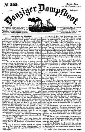 Danziger Dampfboot für Geist, Humor, Satire, Poesie, Welt- und Volksleben, Korrespondenz, Kunst, Literatur und Theater vom 11.12.1851
