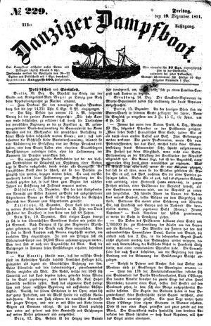 Danziger Dampfboot für Geist, Humor, Satire, Poesie, Welt- und Volksleben, Korrespondenz, Kunst, Literatur und Theater vom 19.12.1851