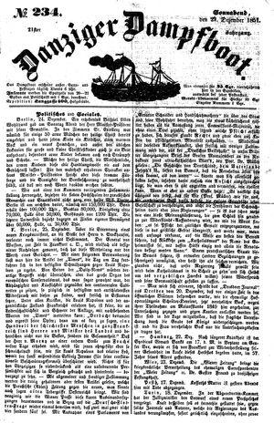 Danziger Dampfboot für Geist, Humor, Satire, Poesie, Welt- und Volksleben, Korrespondenz, Kunst, Literatur und Theater vom 27.12.1851