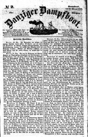 Danziger Dampfboot für Geist, Humor, Satire, Poesie, Welt- und Volksleben, Korrespondenz, Kunst, Literatur und Theater vom 03.01.1852
