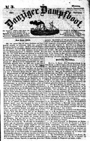 Danziger Dampfboot für Geist, Humor, Satire, Poesie, Welt- und Volksleben, Korrespondenz, Kunst, Literatur und Theater vom 05.01.1852