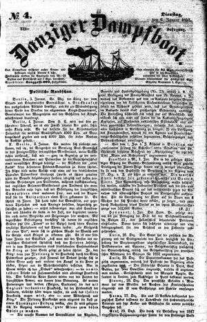 Danziger Dampfboot für Geist, Humor, Satire, Poesie, Welt- und Volksleben, Korrespondenz, Kunst, Literatur und Theater vom 06.01.1852