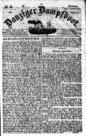 Danziger Dampfboot für Geist, Humor, Satire, Poesie, Welt- und Volksleben, Korrespondenz, Kunst, Literatur und Theater vom 07.01.1852