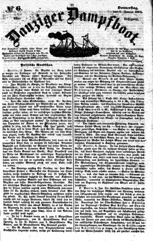 Danziger Dampfboot für Geist, Humor, Satire, Poesie, Welt- und Volksleben, Korrespondenz, Kunst, Literatur und Theater vom 08.01.1852