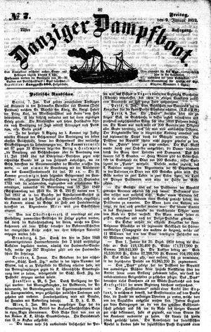 Danziger Dampfboot für Geist, Humor, Satire, Poesie, Welt- und Volksleben, Korrespondenz, Kunst, Literatur und Theater vom 09.01.1852
