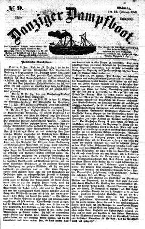 Danziger Dampfboot für Geist, Humor, Satire, Poesie, Welt- und Volksleben, Korrespondenz, Kunst, Literatur und Theater vom 12.01.1852