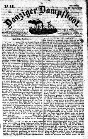 Danziger Dampfboot für Geist, Humor, Satire, Poesie, Welt- und Volksleben, Korrespondenz, Kunst, Literatur und Theater on Jan 14, 1852