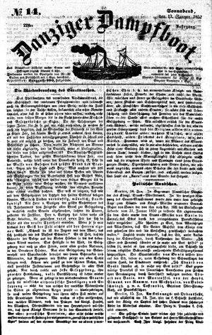 Danziger Dampfboot für Geist, Humor, Satire, Poesie, Welt- und Volksleben, Korrespondenz, Kunst, Literatur und Theater vom 17.01.1852