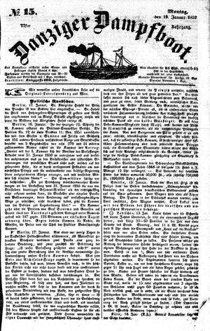 Danziger Dampfboot für Geist, Humor, Satire, Poesie, Welt- und Volksleben, Korrespondenz, Kunst, Literatur und Theater vom 19.01.1852