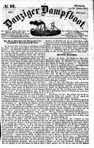 Danziger Dampfboot für Geist, Humor, Satire, Poesie, Welt- und Volksleben, Korrespondenz, Kunst, Literatur und Theater on Jan 21, 1852