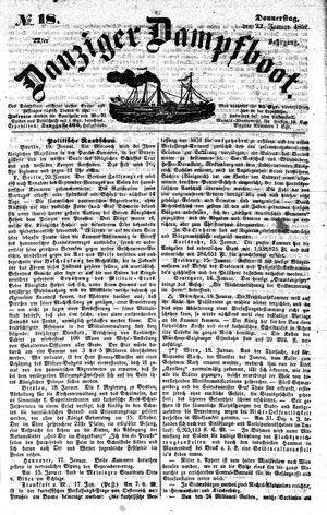 Danziger Dampfboot für Geist, Humor, Satire, Poesie, Welt- und Volksleben, Korrespondenz, Kunst, Literatur und Theater on Jan 22, 1852