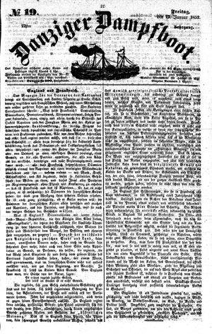 Danziger Dampfboot für Geist, Humor, Satire, Poesie, Welt- und Volksleben, Korrespondenz, Kunst, Literatur und Theater vom 23.01.1852