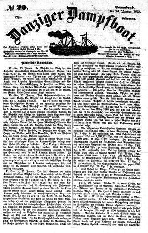 Danziger Dampfboot für Geist, Humor, Satire, Poesie, Welt- und Volksleben, Korrespondenz, Kunst, Literatur und Theater vom 24.01.1852