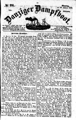 Danziger Dampfboot für Geist, Humor, Satire, Poesie, Welt- und Volksleben, Korrespondenz, Kunst, Literatur und Theater vom 26.01.1852