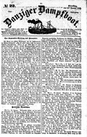 Danziger Dampfboot für Geist, Humor, Satire, Poesie, Welt- und Volksleben, Korrespondenz, Kunst, Literatur und Theater vom 27.01.1852